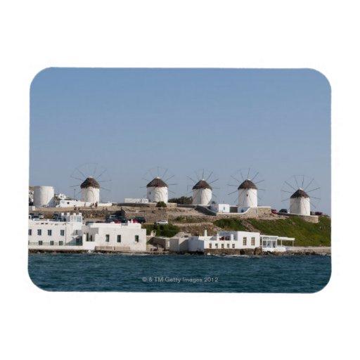 Greece, Cyclades Islands, Mykonos, Mykonos Town, Rectangle Magnet
