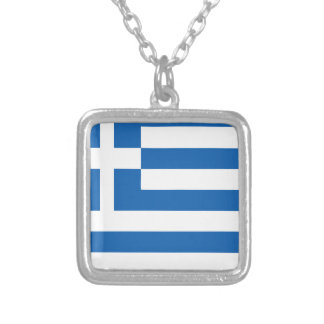 greece design silver plated necklace