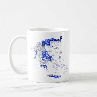 Greece eText ~ Flagcolor Map Mug