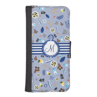 Greece: famous items of the country iPhone 5 wallet