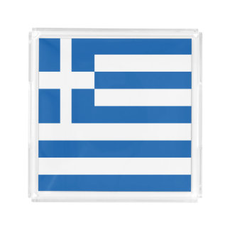 Greece Flag Acrylic Tray