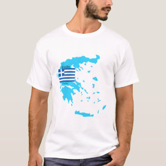 Greece Flag and Map Shirt