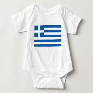 Greece Flag Baby Bodysuit