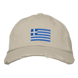 Greece flag embroidered twill cap
