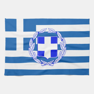 Greece flag kitchen towel