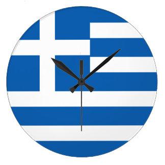 Greece Flag Large Clock