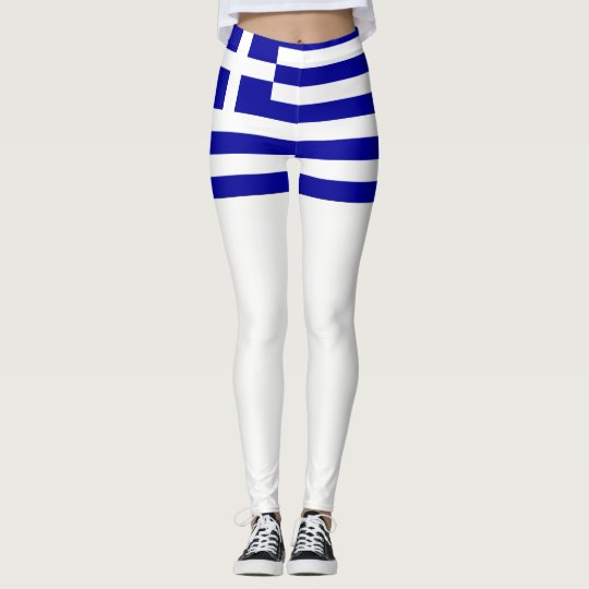 Greece flag leggings