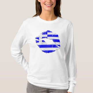 Greece Flag Lips T-Shirt