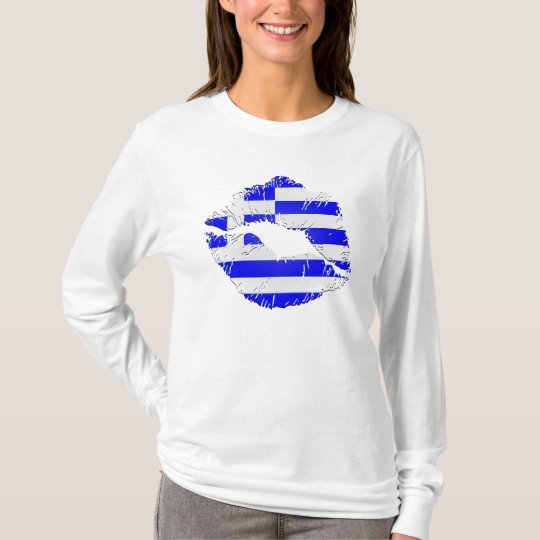 Greece Flag Lips T-Shirt