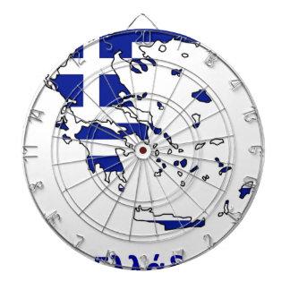 GREECE FLAG MAP DARTBOARD