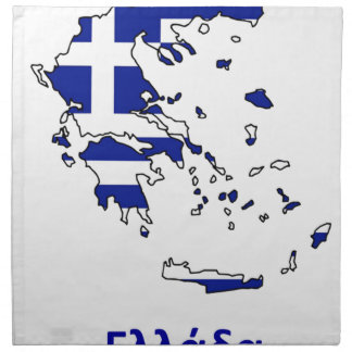 GREECE FLAG MAP NAPKIN