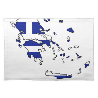 GREECE FLAG MAP PLACEMAT