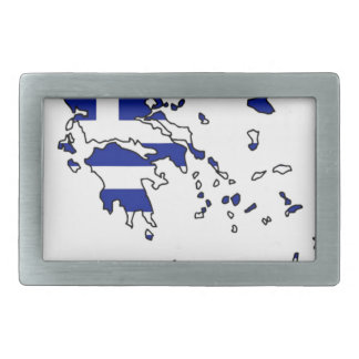 GREECE FLAG MAP RECTANGULAR BELT BUCKLES