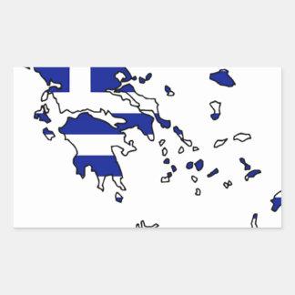 GREECE FLAG MAP STICKER