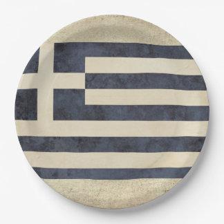 Greece Flag Paper Plates