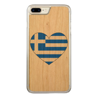 Greece Flag Simple Carved iPhone 8 Plus/7 Plus Case