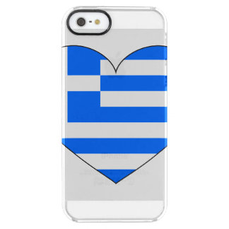 Greece Flag Simple Clear iPhone SE/5/5s Case