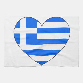 Greece Flag Simple Kitchen Towel