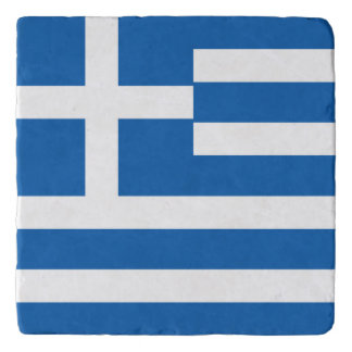 Greece Flag Trivet