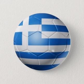 GREECE FOOTBALL FLAG 2 INCH ROUND BUTTON