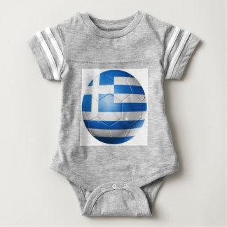GREECE FOOTBALL FLAG BABY BODYSUIT