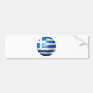 GREECE FOOTBALL FLAG BUMPER STICKER