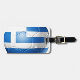 GREECE FOOTBALL FLAG LUGGAGE TAG