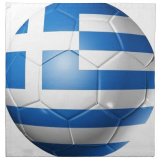 GREECE FOOTBALL FLAG NAPKIN