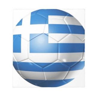 GREECE FOOTBALL FLAG NOTEPAD