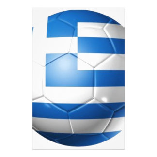 GREECE FOOTBALL FLAG PERSONALIZED STATIONERY