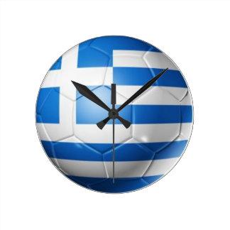 GREECE FOOTBALL FLAG ROUND CLOCK