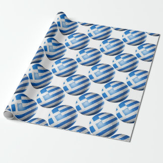 GREECE FOOTBALL FLAG WRAPPING PAPER