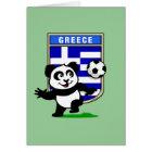 Greece Football Panda Card