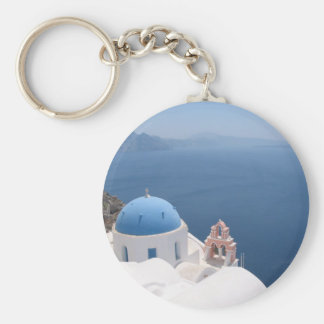 Greece Forever Basic Round Button Keychain