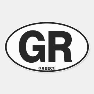 Greece GR Oval International Identity Code Letters Oval Sticker