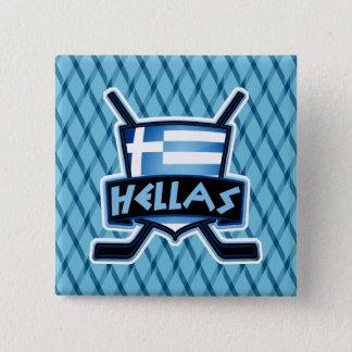 Greece Hellas Ice Hockey Badge Hockey Pin