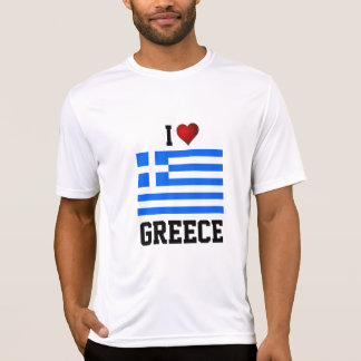GREECE: I LOVE GREECE flag t-shirt