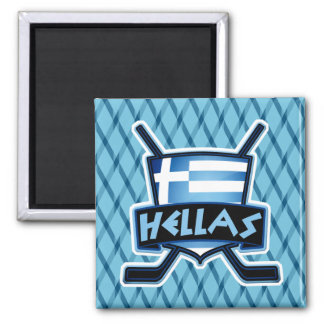 Greece Ice Hockey Flag Logo Magnet