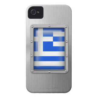 Greece in Stainless Steel iPhone 4 Case