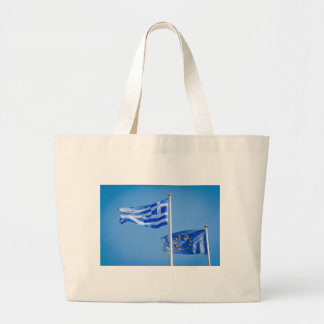 Greece in the European Union Large Tote Bag