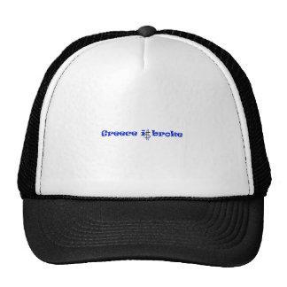 Greece is broke trucker hat