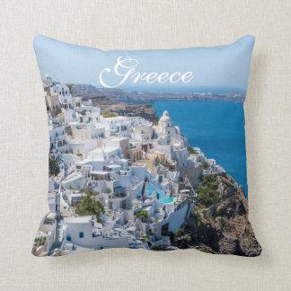 Greece Landscape Throw Pillow