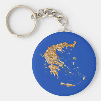 Greece Map Keychain