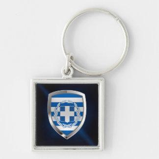 Greece Metallic Emblem Keychain