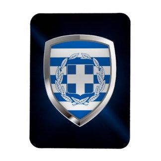 Greece Metallic Emblem Magnet
