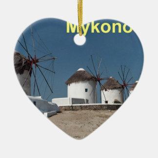 Greece Mykonos Windmills (Aggel) Ceramic Ornament