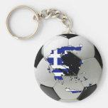 Greece national team basic round button keychain
