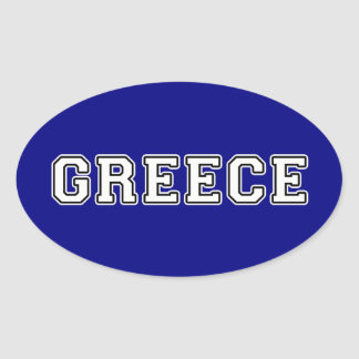 Greece Oval Sticker