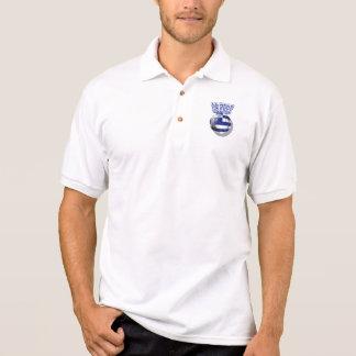 Greece soccer ball worded logo polo shirt
