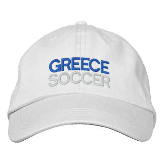 GREECE SOCCER EMBROIDERED HAT